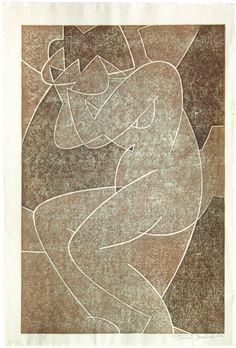 elyssediamond:  Yoshida Toshi (1911-1995) (Nude) No. 6 1952