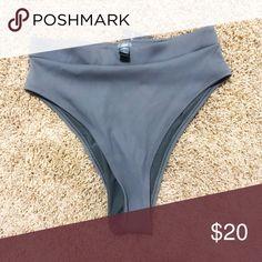 4a8ba88310 American Eagle Swim Bottoms Gray American Eagle bikini bottoms