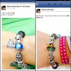 Bracciale simil Pandora con cari charms ♡