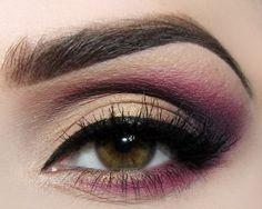 Make-up: Burgundy and Fuchsia