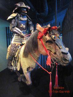 Samurai in Armour on his Caparisoned Horse Japon - 17th~18th centuries.