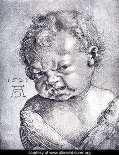 Weeping Cherub - Albrecht Durer - www.albrecht-durer.org