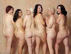 Six brave women stripped off to appear in a naked photoshoot after collectively shedding more than 25 stone. Left to right: Nikki Weston, 44; Nicola,Ruth, Shelly, Elaine, Nikki Simpson, 28