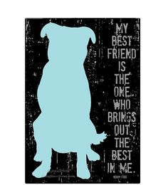 Love this so much that I bought it to frame and put in my living room! My Best Friend Dog Silhouette Art Print by GoingPlaces2 on Etsy, $14.00
