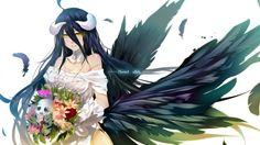 Download Albedo Wallpaper Art Overlord Anime 1920x1080