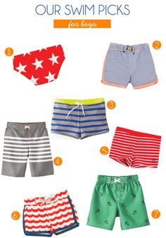 boy swim shorts