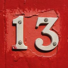 Discover recipes, home ideas, style inspiration and other ideas to try. Lucky Number 13, Number Number, Creeped Out, Blue Dream, Red Aesthetic, Alphabet And Numbers, Taylor Swift, Bunt, Signage