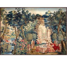 "Brussels Mid-17th Century Tapestry ""Allegory of Spring"" 