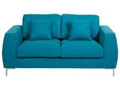 SOFA ''EDDIE'' - 2 Plätze, aus blauem Stoff - Artikelnummer :   54136
