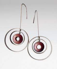 """Rone Prinz: """"Orbit Earrings"""" Silver & Copper Earrings"""