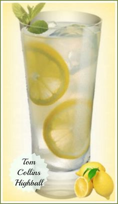 Tom Collins High Ball Sour - refreshing summer time drink.