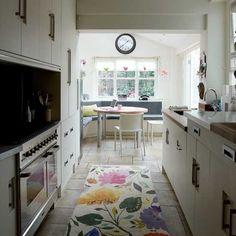 Kitchen Banquette Ideas   Narrow modern kitchen   Kitchen decorating ideas   Small kitchens ...