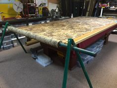 DIY Cutting Table with Integrated Fabric Rollers