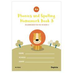 Phonics and Spelling Homework Book 3 Spelling Homework, School Grades, Phonics, Notebook, Teacher, Chart, Education, Books, Professor