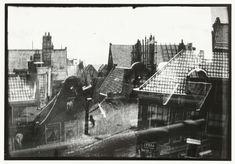 Gezicht over daken in Amsterdam, George Hendrik Breitner, Harm Botman, c. 1890 - c. 1910