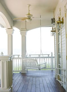 """Swing on a wraparound porch. This is basically what I see in my head when I think """"dream house."""""""