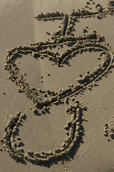 Love Like That:     Words found written in the sand on Galveston Beach      Watch what God does, and then you do it, like children who learn proper behavior from their parents. Mostly what God does is love you. Keep company with him and learn a life of love. Observe how Christ loved us. His love was not cautious, but extravagant. He didn't love in order to get something from us, but gave everything of himself. Love like that.  Ephesians 5:1-2, The Message