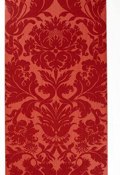 Wallcovering / Wallpaper | Fiorella Damask in Red | Schumacher