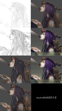 人人网 – 浏览照片 – Art – Art is my life. Digital Painting Tutorials, Digital Art Tutorial, Art Tutorials, Process Art, Painting Process, Painting & Drawing, Drawing Process, Photoshop, Concept Art Tutorial