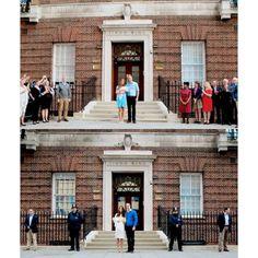 2013 || 2015. ❤  #thecambridges #princewilliam #katemiddleton #princegeorge #princesscharlotte