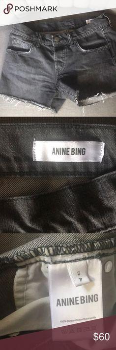 Anine Bing Black Denim Shorts Anine Bing Denim Black Jean Shorts in Small Anine Bing Shorts Jean Shorts