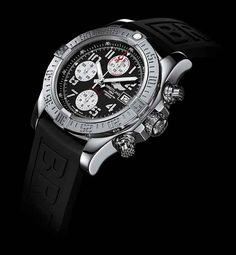 """#Breitling has developed the Avenger II series to be """"even more technical, functional, and sophisticated,"""" with a slimmer and more ergonomic case profile, aviation-style """"stencil"""" numerals; an engraved, satin-brushed bezel with integrated rider tabs; and a lighter, titanium caseback with a conversion scale for metric measurements.  #WatchTime @WatchTime Magazine Magazine"""