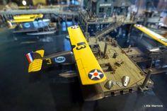Douglas World Cruiser diorama. By Jamie Pye. The four Douglas World Cruisers at a refueling stop in Seward, Alaska, during their 1924 round-the-world flight. #diorama #scale_model #biplane