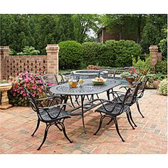 @Overstock - The Malibu 7-piece Outdoor Dining Set from Home Styles includes an oval dining table and six arm chairs. This dining set adds a contemporary alternative to the usual traditional design of outdoor dining.http://www.overstock.com/Home-Garden/Home-Styles-Malibu-Cast-Aluminum-Black-7-piece-Outdoor-Dining-Set/6695678/product.html?CID=214117 $1,345.03