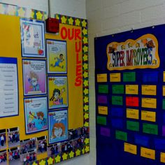 Super Improvers Wall in 2nd grade Whole Brain Teaching