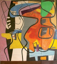 Le Corbusier, 'Femme et coquillage IV,' Mural in the office at rue de Sevres. Photograph by Marie-Odile Hubert ©FLC/DACS, 2009 Rue De Sevres, Modern Art, Contemporary Art, Alvar Aalto, Paul Klee, Inspiration Art, Art Design, Oeuvre D'art, Painting & Drawing