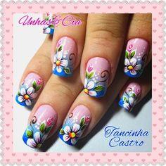 Publicación de Instagram de By Tancinha Castro • 29 de Nov de 2015 a las 10:21 UTC Green Nail Art, Green Nails, Diy Nail Designs, Nail Designs Spring, Easy Nail Art, Cool Nail Art, Sassy Nails, Finger Nail Art, Mermaid Nails