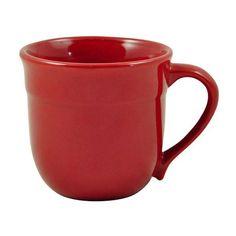 Emile Henry Traditional mug 14 Oz (33 NZD) ❤ liked on Polyvore featuring home, kitchen & dining, drinkware, cereal mug, coffee tea mugs, hot coffee mug, hot tea mug and dishwasher safe mugs