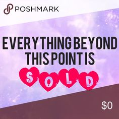 💰SOLD💰 Everything beyond this point is sold, but feel free to bundle other items and MAKE AN OFFER!!! Other