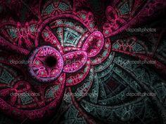 Abstracción de la música trance, arte fractal digital para diseño ...