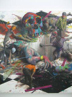 Jonas Burgert: Lebendversuch Eine großartige Ausstellung mit über 40 zum Teil meterhohen Ölbildern des Berliner Maler...