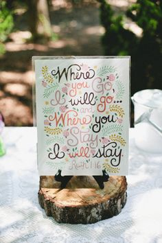 wedding table sign ideas