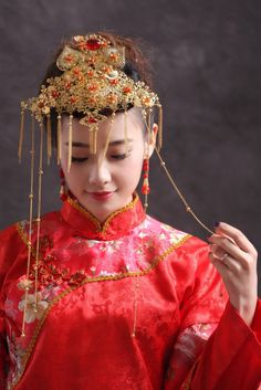 Chinese Bridal Hairpiece Jewelry Wire Warp