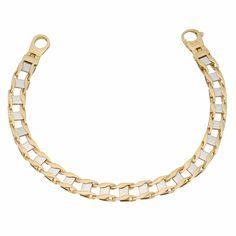 Fremada 10k Gold Railroad Men's Bracelet