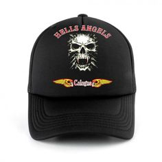 Retro Hells Angels skull TRUCKER HAT Cap Snapback Mesh Baseball Funny
