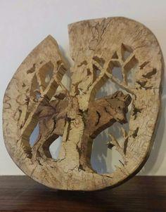 Loup en sous bois