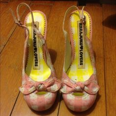 "Hara juku❤️lovers ""Libby"" slingback heels Great condition-hard to find Harajuku Lovers Shoes Heels"