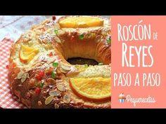 El Roscón de Reyes es una receta tradicional de Navidad para el 6 de Enero, día de Reyes. Os enseñamos cómo hacer el roscón de reyes paso a paso y en vídeo. Cooking Chef, Cooking Recipes, Latin American Food, Pan Dulce, Pan Bread, Bread And Pastries, Dinner Rolls, Sweet Bread, Bagel