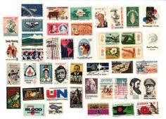I love vintage stamps