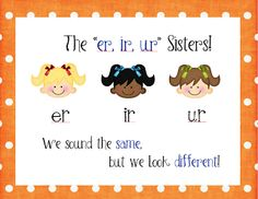 "The ""er, ir, ur"" Sisters Poster Freebie!"