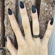 black stiletto nails with rhinestones - Google Search