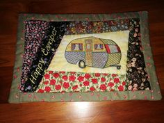ITH Campers Placmat Machine Embroidery Projects, Campers, Saddle Bags, Quilts, Blanket, Places, Comforters, Blankets, Sling Bags