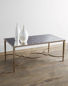 would prefer glass top. Kimbra+Metal+Coffee+Table+at+Horchow.
