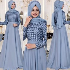 2018 En Yeni Pinar Sems Abiye Elbise Modelleri 4 Hijab Dress, Hijab Outfit, Long Dress Design, Long Evening Gowns, Mode Hijab, Pakistani Dresses, The Dress, Turban, Hijab Fashion