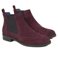 c7b5baf82 Botín mujer tipo OXFORD de piel burdeos – miMaO made in Spain – miMaO  ShopOnline Zapatos