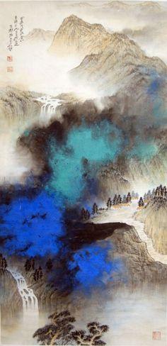 Zhang Daqian Ink Splashed Mountain Lot.